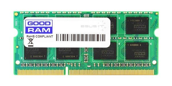Memory RAM 1x 1GB GoodRAM SO-DIMM DDR2 800MHz PC2-6400 | GR800S264L6/1G
