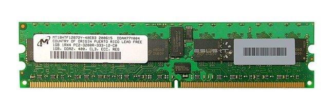 Memory RAM 1x 1GB Micron ECC REGISTERED DDR2  400MHz PC2-3200 RDIMM   MT18HTF12872Y-40EB3