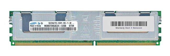 Memory RAM 1x 1GB Samsung ECC FULLY BUFFERED DDR2 667MHz PC2-5300 FBDIMM   M395T2953EZ4-CE66
