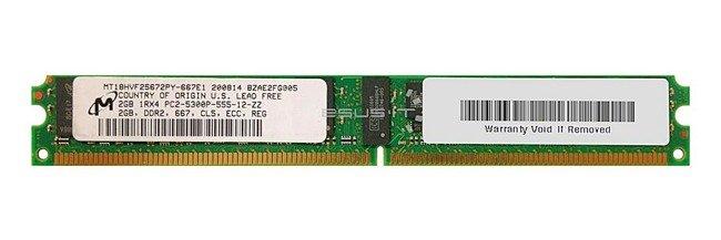 Memory RAM 1x 2GB Micron ECC REGISTERED DDR2  667MHz PC2-5300 RDIMM | MT18HVF25672PY-667E1