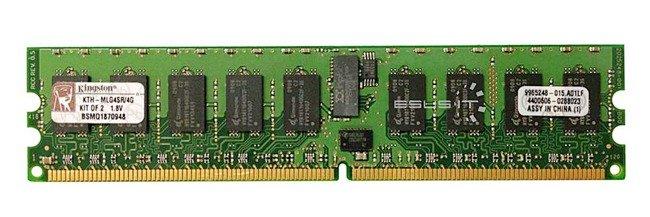 Memory RAM 2x 2GB Kingston ECC REGISTERED DDR2  400MHz PC2-3200 RDIMM | KTH-MLG4SR/4G